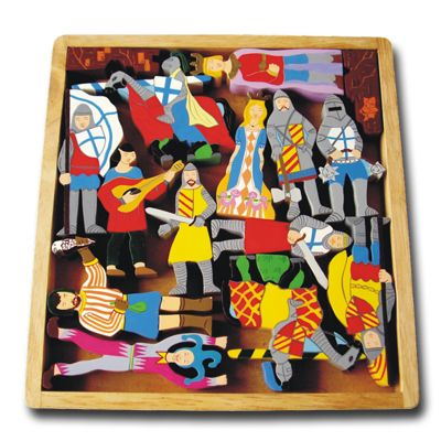 Wooden Knights Playtray