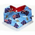 Bibska Bib - Aussie Baby Reversible Bib w/Fringe