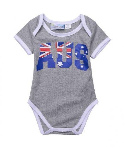 Aus Grey Bodysuit  - Australian Baby Outfit