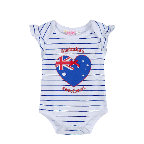 Aussie Sweetheart Bodysuit Australian Themed Baby Clothes