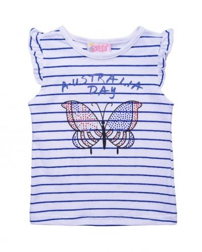 Australia Day Butterfly Tee (Size 1)