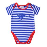 Aussie/Australia Kangaroo Blue Striped Bodysuit