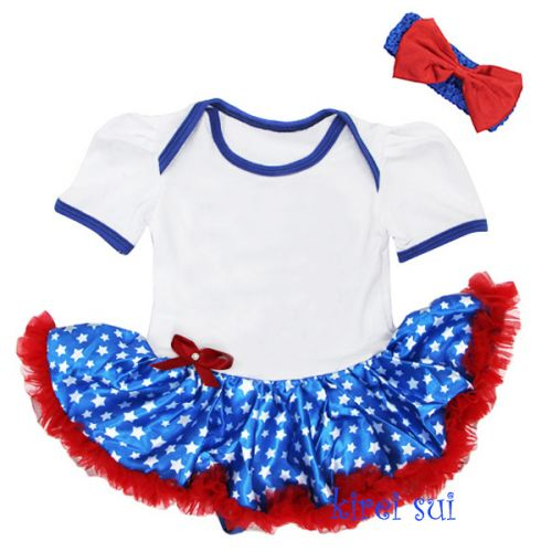 Aussie Flag Coloured Tutu Baby Outfit