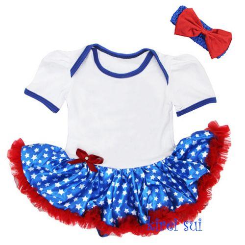 Aussie Flag Coloured Tutu Baby Outfit
