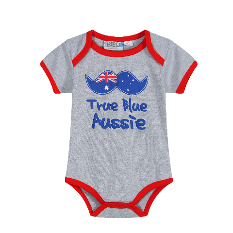 Aus Grey Bodysuit Australian Baby Outfit Not Another Baby Shop
