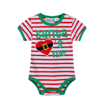 Santa Loves Me - Striped Onsie - Baby Christmas Outfit (Sizes 000 to 1)