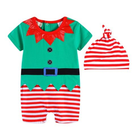 Wow this outfit would look great in Santa Photos - Santa's Little Helper - Christmas Elf Romper Baby Christmas