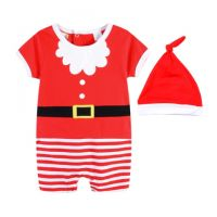 Little Santa Romper Set - Baby Christmas Outfit