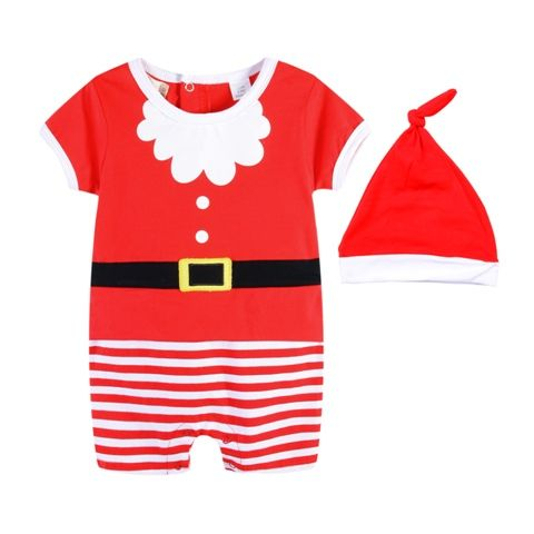 Little Santa Romper Set - Baby Christmas Outfit Sizes 000, 00, 1)