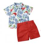 Christmas Car Shirt and Short Set (Size 1-2)