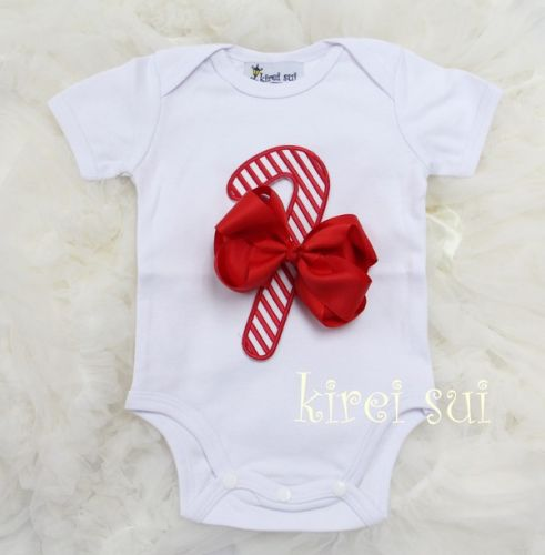 Candy Cane - Christmas Onsie - Baby Christmas Outfit
