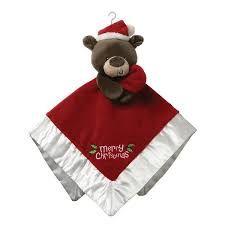Santa Bear Christmas Baby Comforter