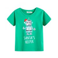 Santa's Helper Christmas Robot T-Shirt (Size 0 to 2)