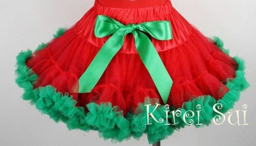Red & Green Pettiskirt/Tutu ideal for Christmas (only 5-7 years left)