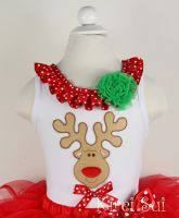 Rudolph Reindeer - Christmas Tanktop/Tee (only size 3-12 months & 5-7 years left)