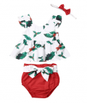 Holly Christmas Outfit and Headband
