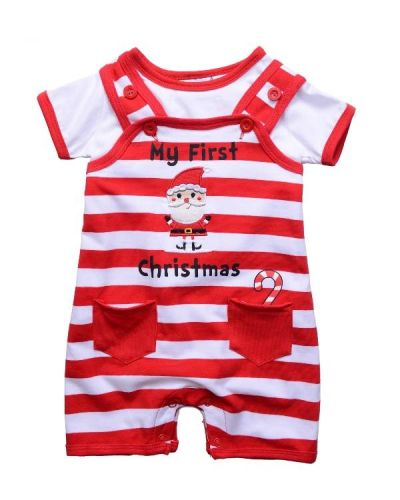 fa72d97f8d55 Adorable little two piece Christmas outfit - my first Christmas baby clothes