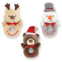 My First Christmas Rattle - snowman, reindeer or santa bear