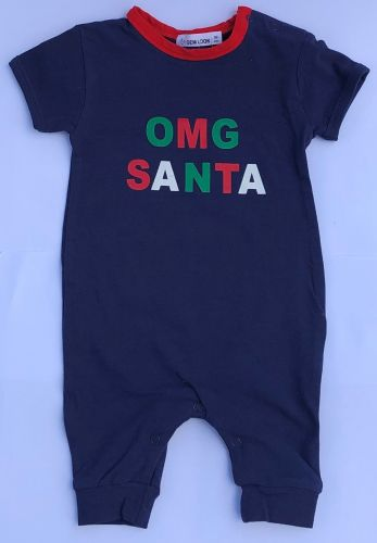OMG Santa Romper - Baby Christmas Outfit