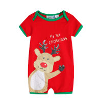 My First Christmas Romper - Reindeer Baby Christmas Outfit (Size 0 and 00 only)