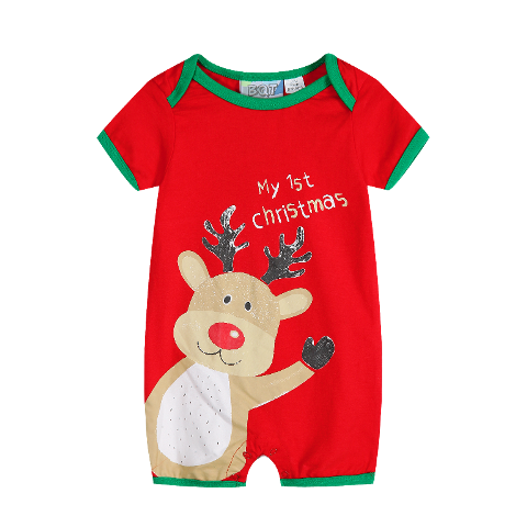 My First Christmas Romper - Reindeer Baby Christmas Outfit (Size 0 only Last one left)