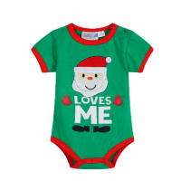 Santa Loves Me - Green Onsie - Baby Christmas Outfit