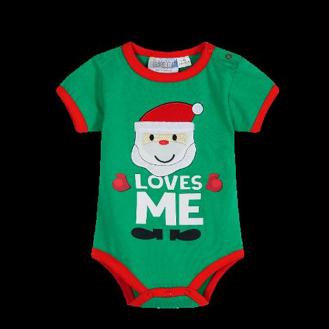 Santa Loves Me - Green Onsie - Baby Christmas Outfit