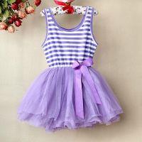 Purple Striped Top Tutu Dress