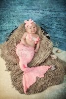 Photo Prop -Crochet Mermaid Outfit for Babies