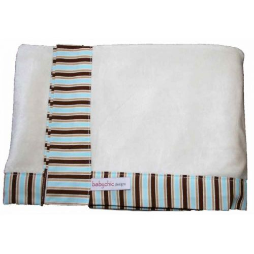 Peri Choc Babychic Bamboo Velour Pram Blanket