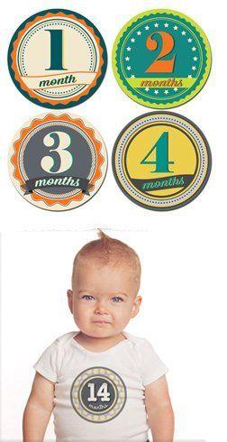 Sticky Bellies Badge Boys - Milestone Sickers 13-24