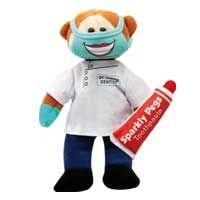 Dr Chomp the Dentist Bear - Beanie Kids