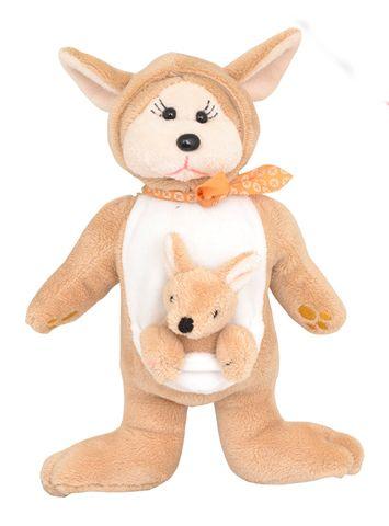 Bushie and Bouncy Kangaroo - Mum and Baby Beanie Kid
