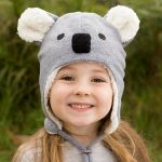 Koala Fleecy Beanie (sizes to suit 0 months to 12 years)