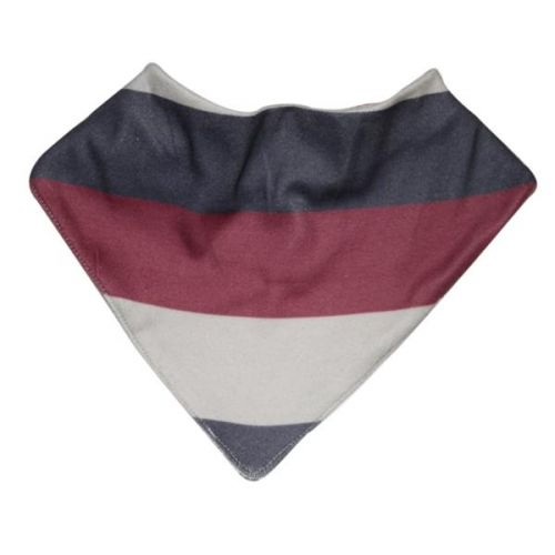 Love Henry Benjamin Dribble Bib - Red Stripe