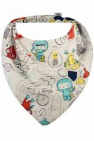 Bibska Bib - Spaceman (Organic Cotton Bamboo) - Dribble/Bandana Bib