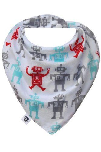 Bibska Bib - Robot- Dribble Bib -Bandana Bib