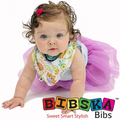 Bibska Bib - Smart Floral- Dribble/Bandana Bib