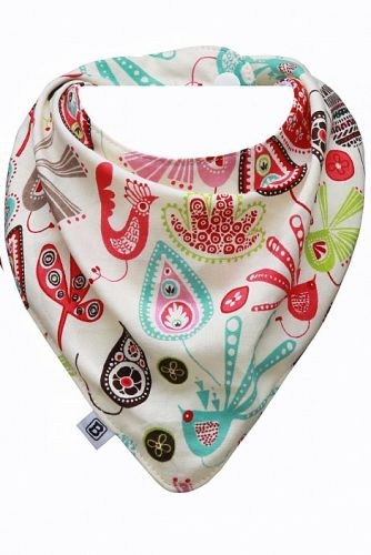 Bibska Bib - Quirky Bird- Dribble Bib -Bandana Bib