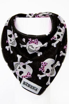 Bibska Bib - Skulls n Bows - Dribble/Bandana Bib