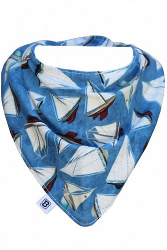 Bibska Bib - Sail Away- Dribble Bib -Bandana Bib