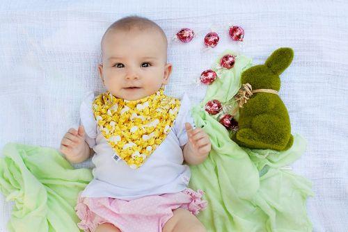 Bibska Bib - Yellow Chicks Bandana Bib (Easter Outfit addition)