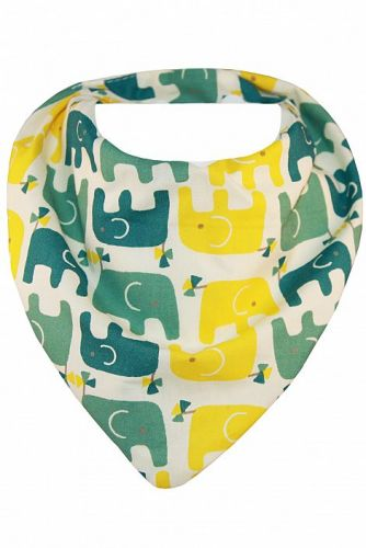 Bibska Bib - Elephant March - Dribble/Bandana Bib (organic cotton/bamboo)