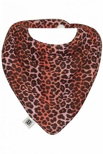 Bibska Bib - Pink Leopard Dribble/Bandana Bib