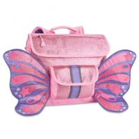 Sparkalicious Glitter Butterfly Kids Backpack Pink