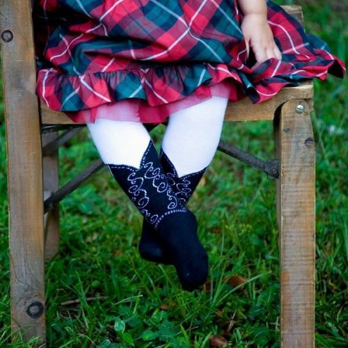 Bootzies - Texas Hold Her Tights - Black (Last size left 2-4 years)