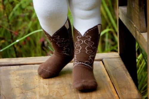 Bootzies - Texas Hold Her Brown Tights