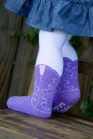 Bootzies - Texas Hold Her Lavender Tights (last size left 6-18mths)