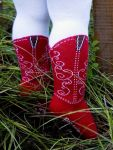 Bootzies - Texas Hold Her Tights Red (only 6-18mths left)