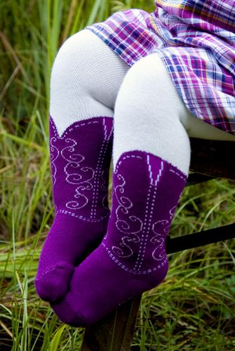 Bootzies - Texas Hold Her Purple Tights (last size left 6-18mths)